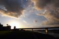 [夕焼け][風景]多摩川で観る夕焼け