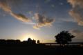 [夕焼け][風景]多摩川から見る夕焼け