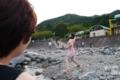 [tour][風景]河原で石投げまくり、道の駅どうし