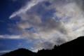 [風景][夕焼け]夕焼け、道の駅どうし、山梨県