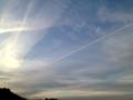 [風景][夕焼け]夕焼けの空と雲