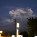 [風景]日没後の入道雲