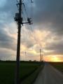 [風景]常総市付近で見る夕陽