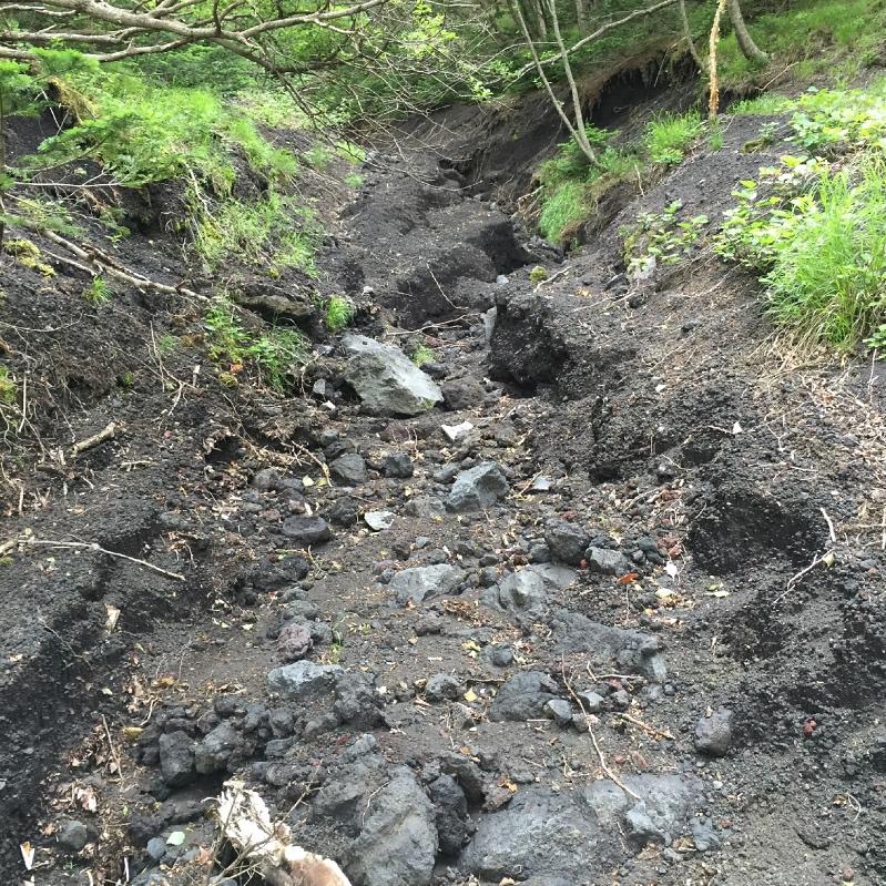 小富士への道途中の涸沢