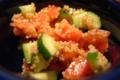 胡瓜とトマト、キヌア