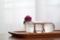 ガラストーラスの花瓶と花