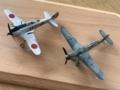 二式単戦(鍾馗)とBf-109G