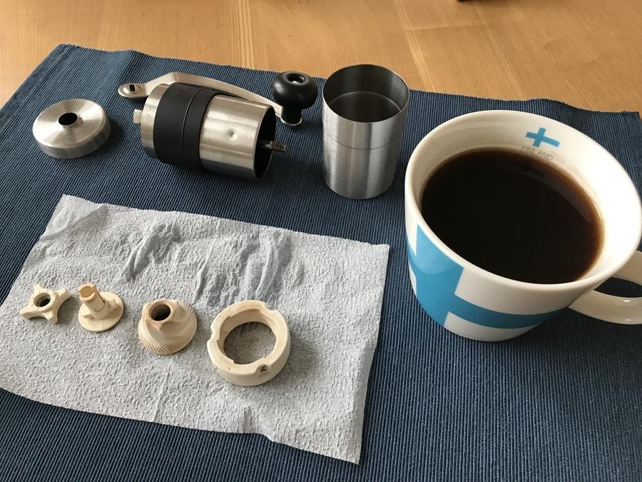 コーヒーミル掃除