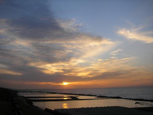 日本海 夕日 2007年2月