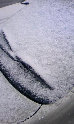 雪! 3 積もってます。