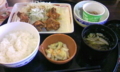 唐揚げ朝定食+納豆
