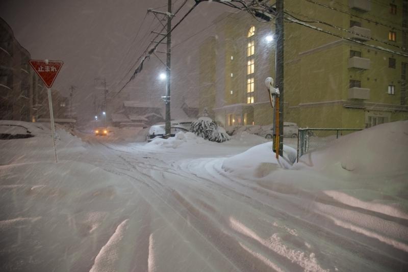 雪の夜道 3
