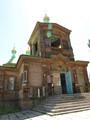 釘を使ってない、木造の正教会。