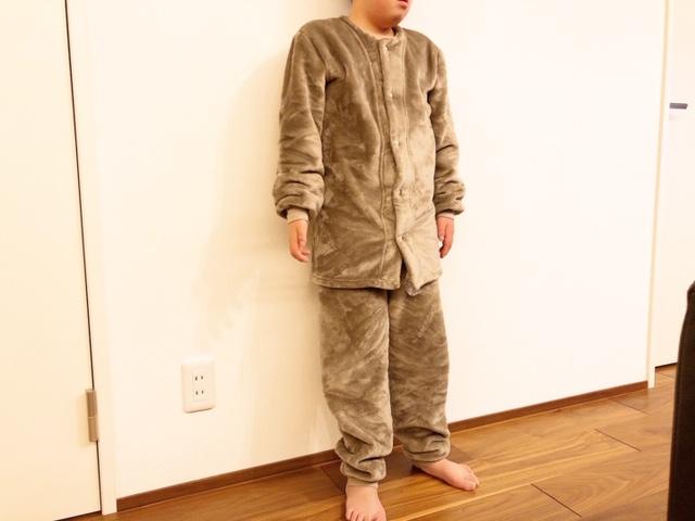 ボアフリース着る毛布はらまき付きパジャマ