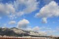 [自然]雪化粧した山々