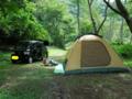 キャンプ場到着
