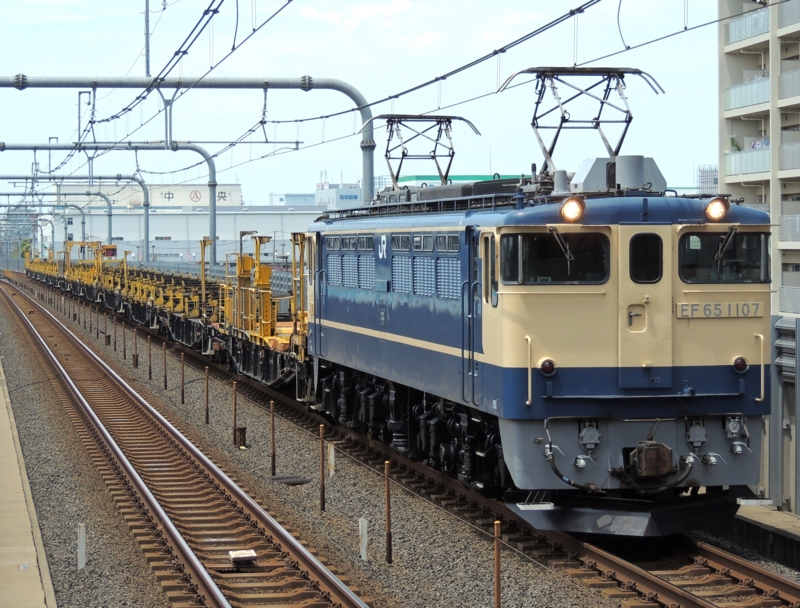 EF65-1107 新津工臨返空(越谷レイクタウン駅)  EF65-1107 新津  ★☆よねち