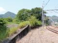 上野原の線路跡