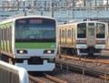 高崎線211系 尾久疎開&山手線E231系(鶯谷駅)