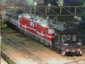 EF65-2036+名古屋鉄道デキ120形2B+ヨ8630「甲種輸送」(新鶴見信号場)