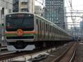 上野東京ラインE231系0番台U33編成+U502編成「1592E列車」(御徒町駅)