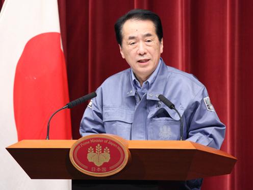 110315記者会見する菅直人首相 110315記者会見する菅直人首相 個別「110315記者会