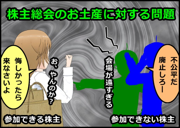 株主総会お土産廃止