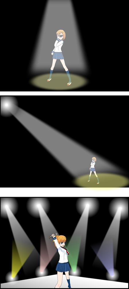 comipoでライトを表現