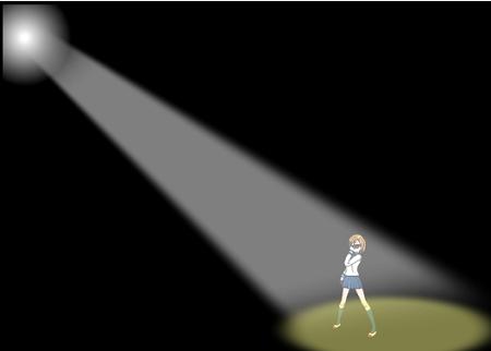 斜めから光を当てる