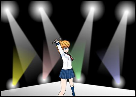 コンサート会場の光