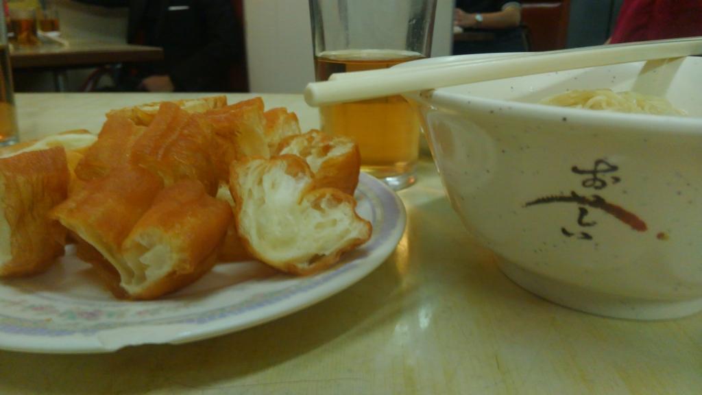 香港-ネイザンロード-お粥-あげ