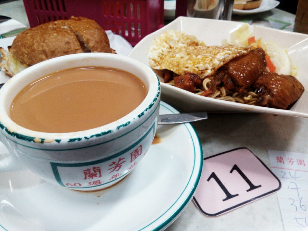 香港-ネイザンロード-蘭芳園-ミルクティ