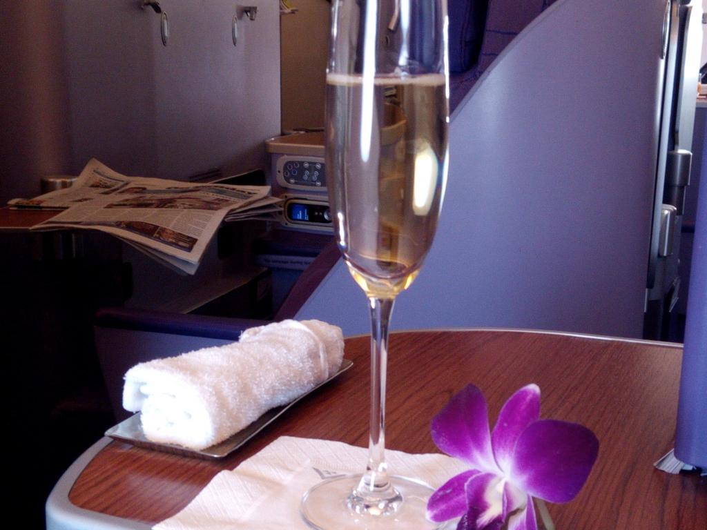 タイ国際航空_シャンパン