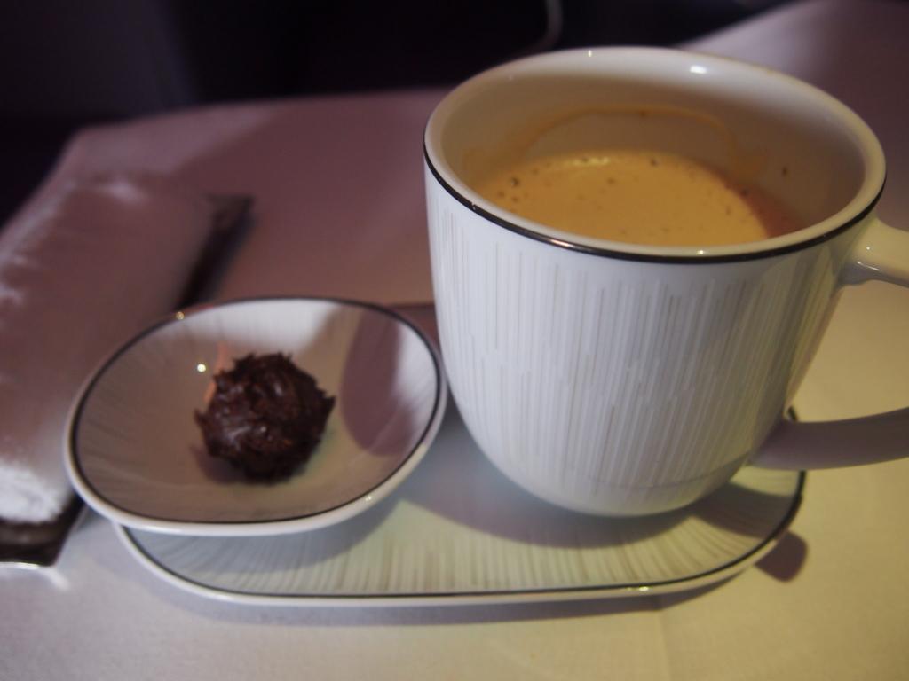 タイ国際航空_機内食_食後のお茶