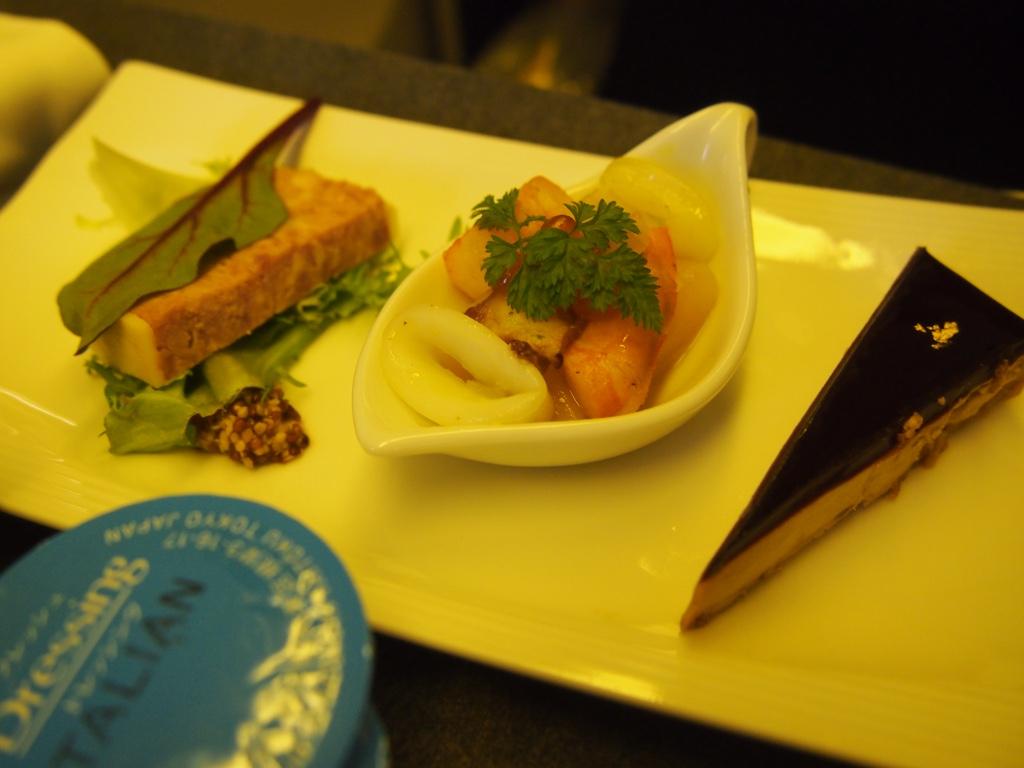 JAL-羽田-香港-ビジネスクラス_機内食前菜