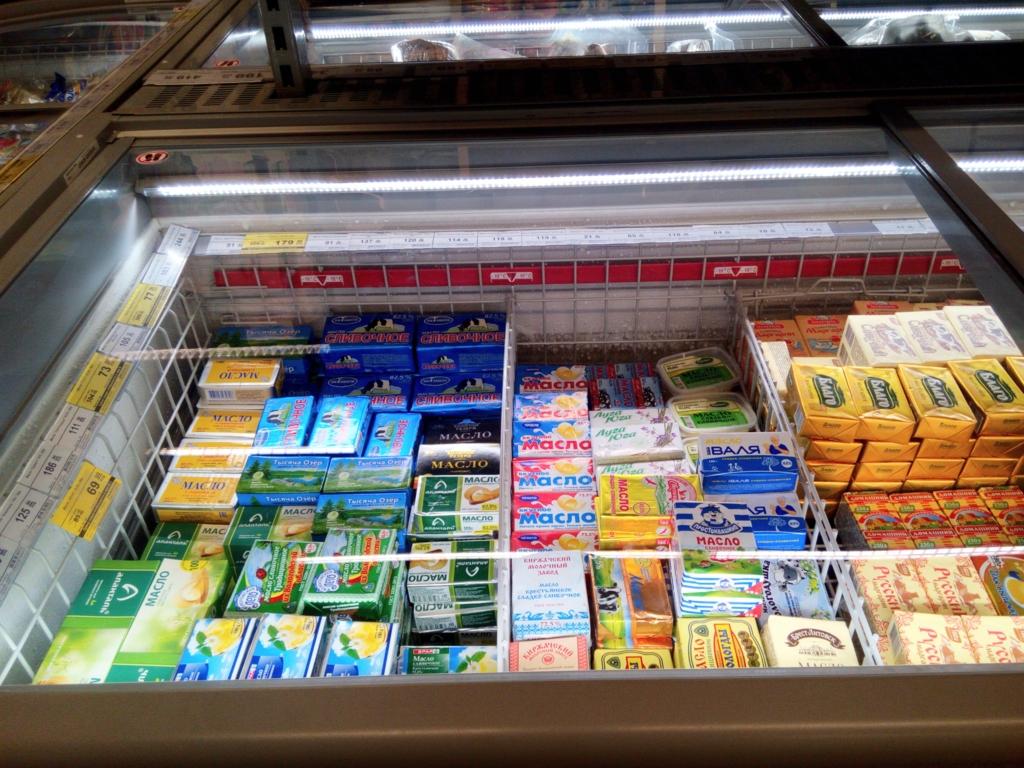サンクトペテルブルグ-スーパーマーケット-バター