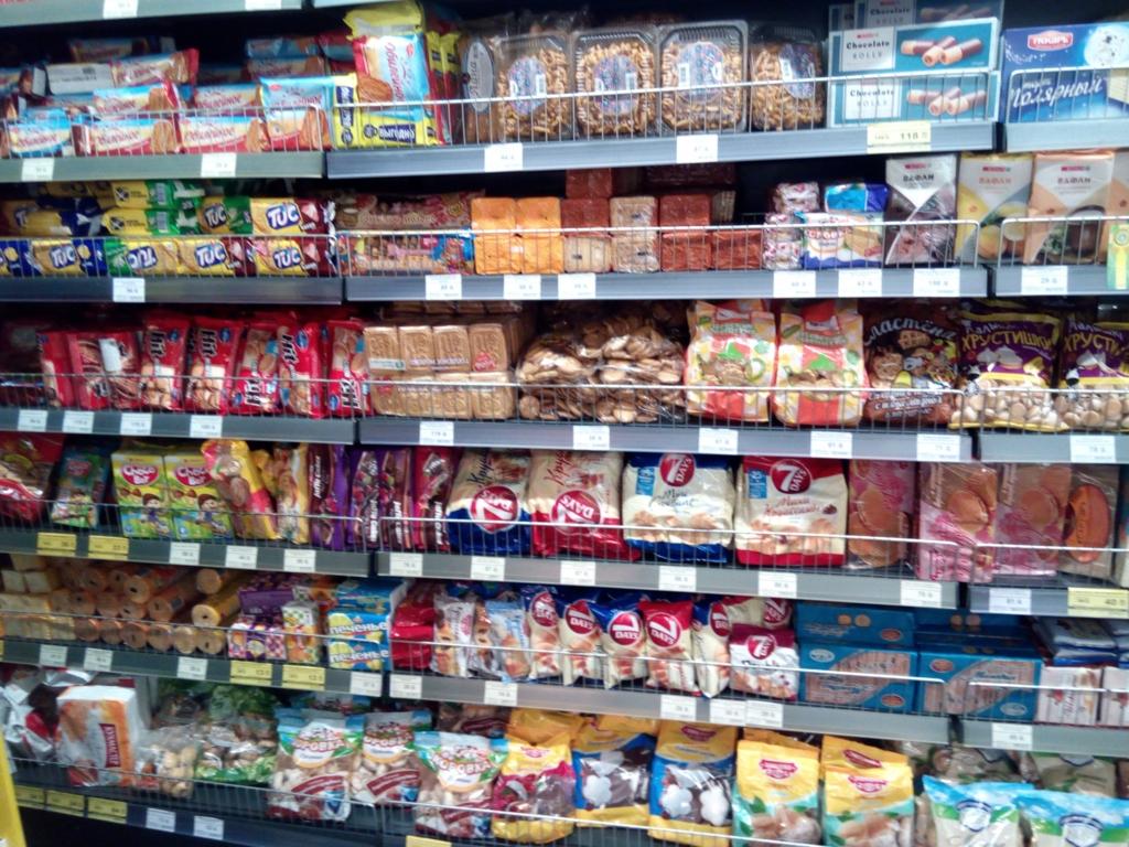 サンクトペテルブルグ-スーパーマーケット-お菓子