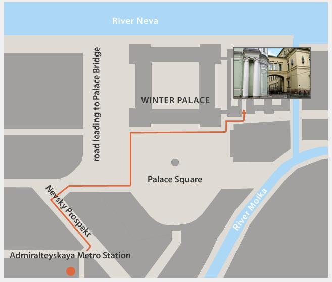 サンクトペテルブルグ-エルミタージュ美術館-オンライン入り口
