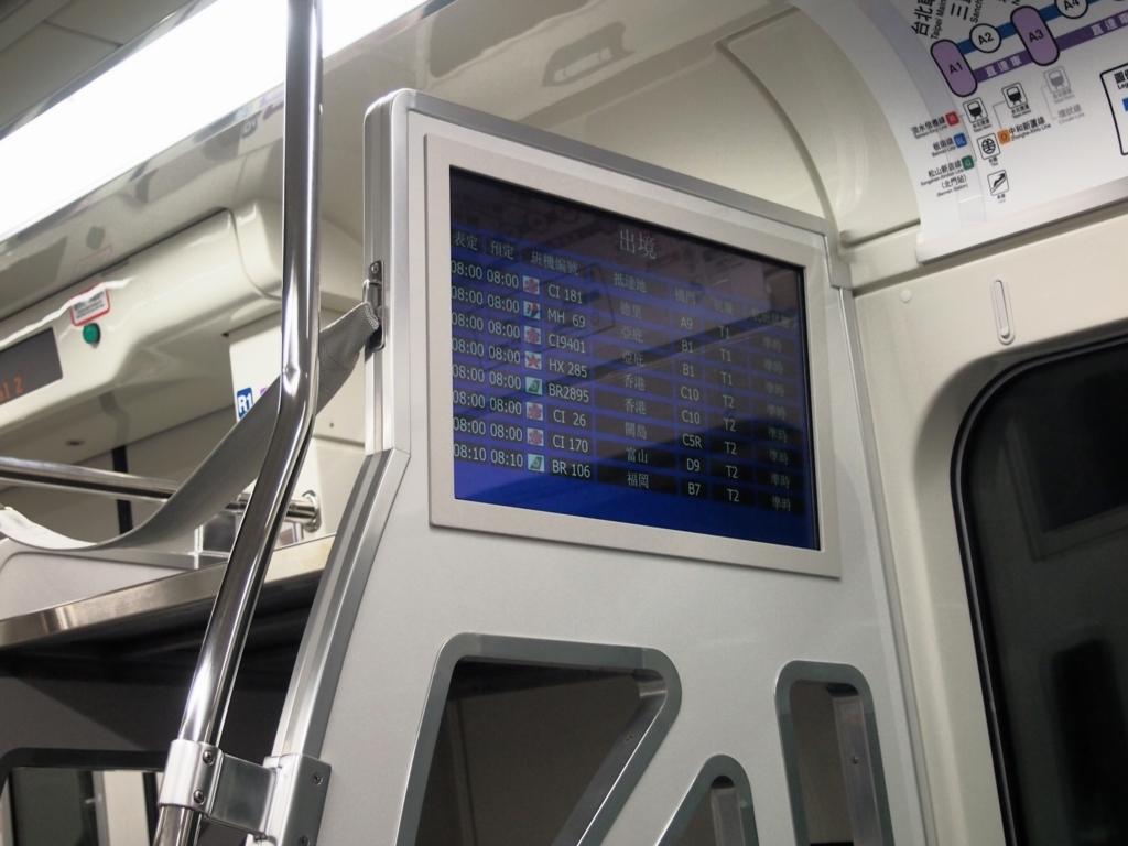 台北MRT空港線-電車内-案内板