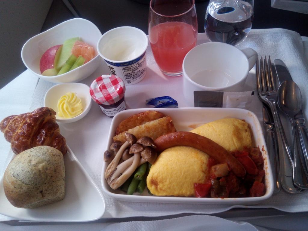 アシアナ航空-羽田-仁川-ビジネス-機内食