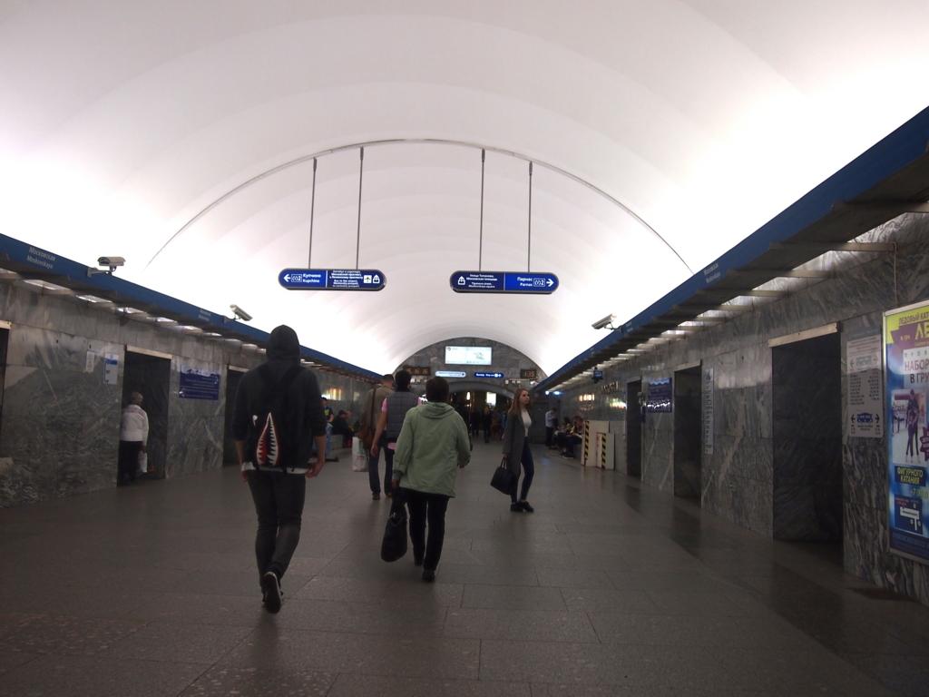サンクトペテルブルク-地下鉄-駅構内