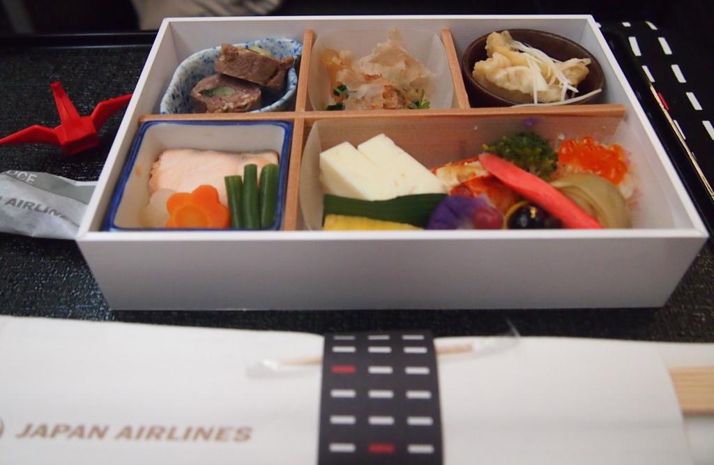 JAL-ビジネスクラス-フランクフルト-機内食- 和食