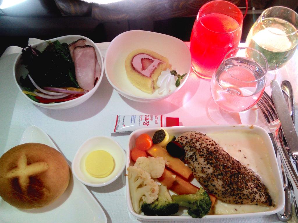 アシアナ航空-ビジネスクラス-機内食