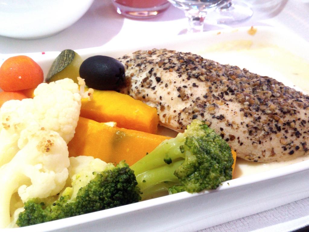 アシアナ航空-ビジネスクラス-機内食-メイン