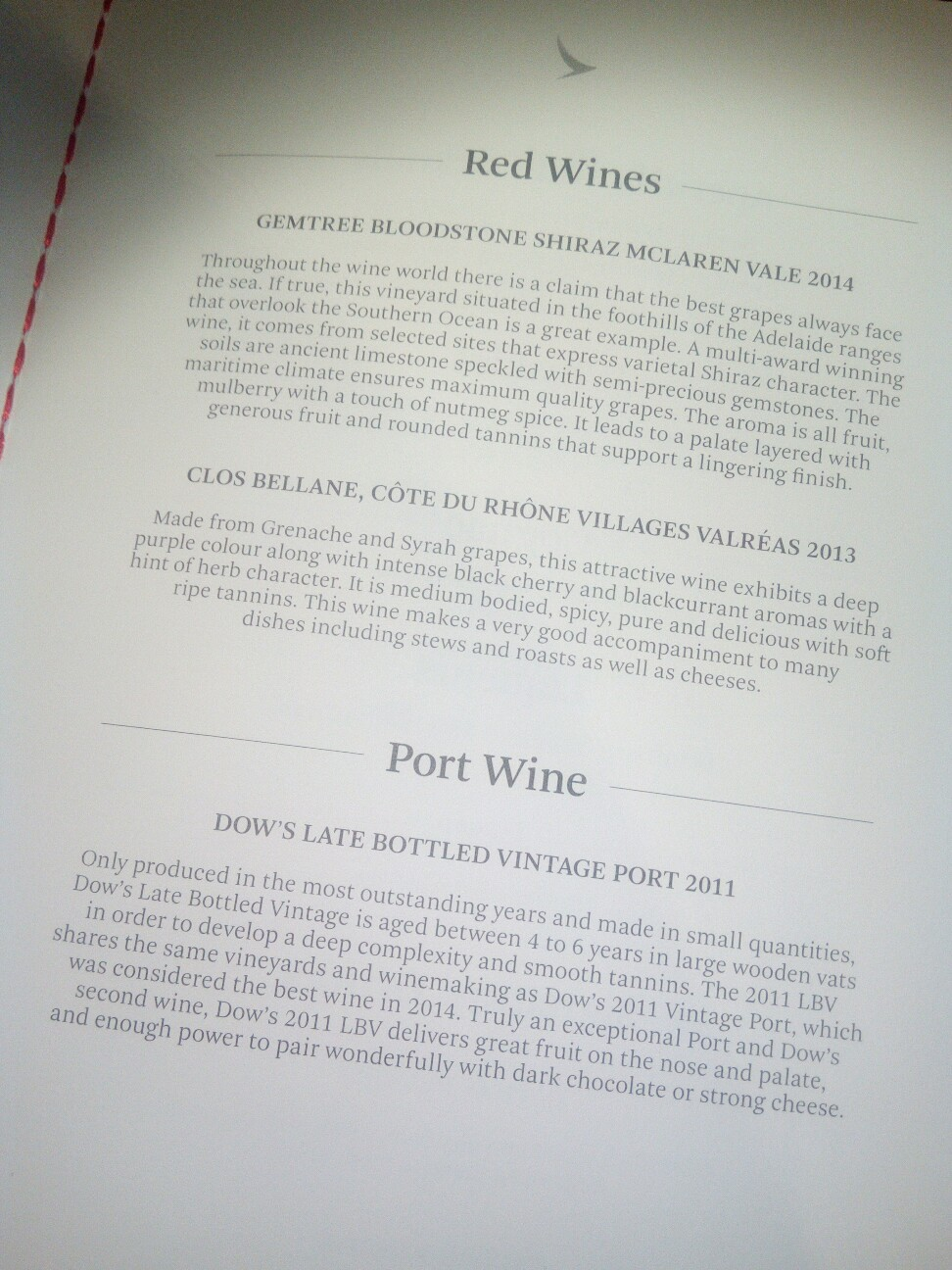 キャセイ-ビジネスクラス-ワイン