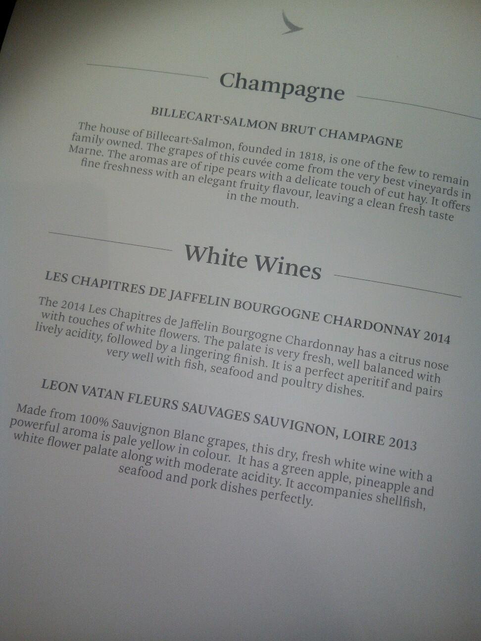 キャセイ-ビジネスクラス-シャンパン