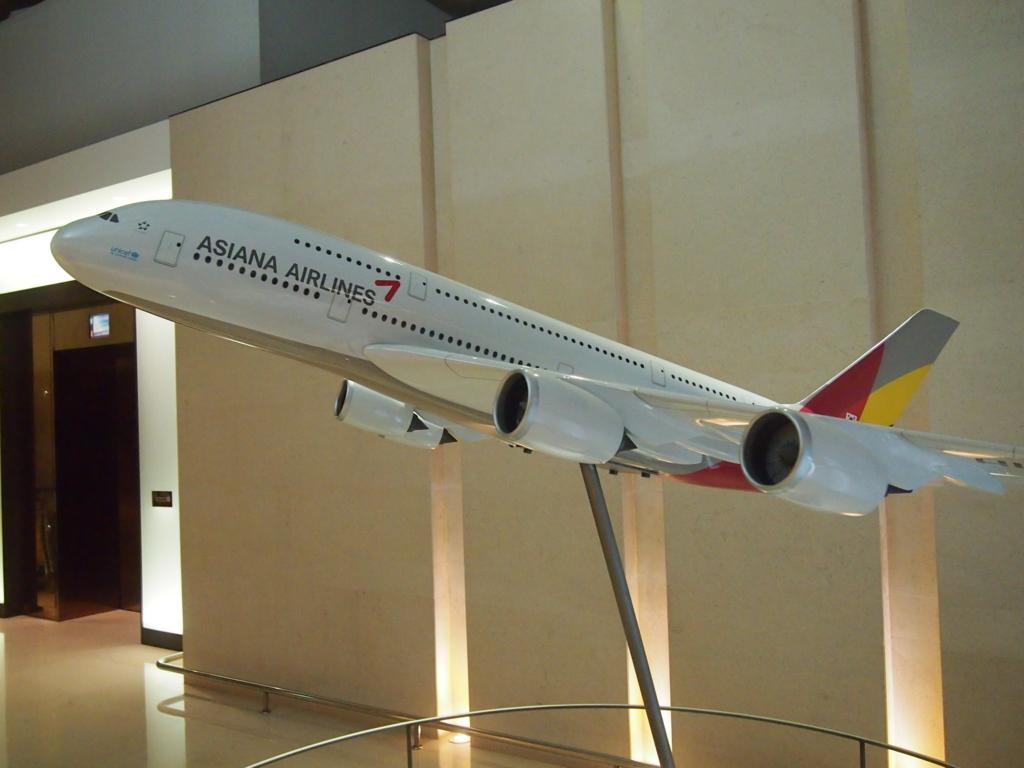 アシアナ航空-ビジネスラウンジ-仁川-A380