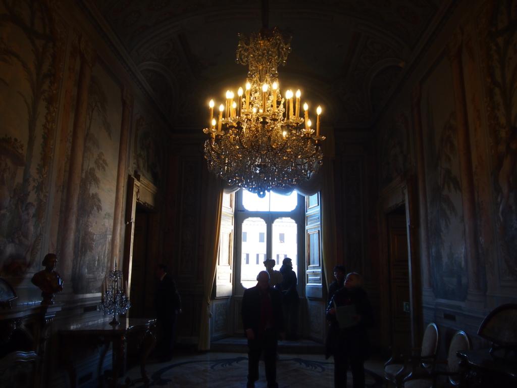 ローマの休日-コロンナギャラリー-シャンデリア