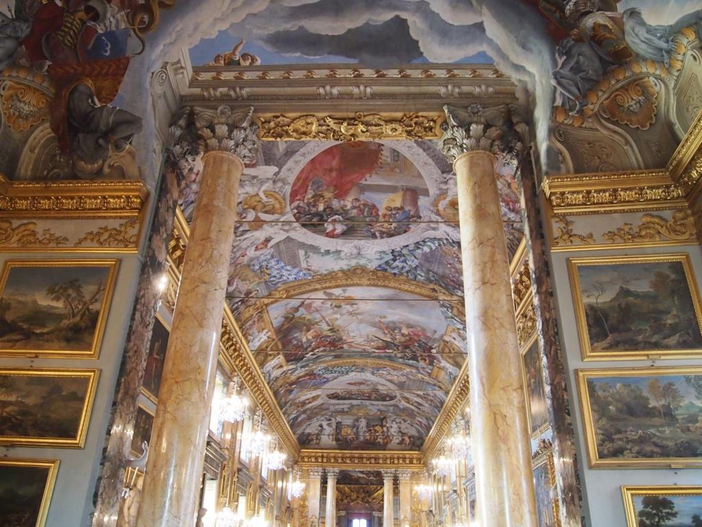 ローマの休日-コロンナギャラリー-天井画
