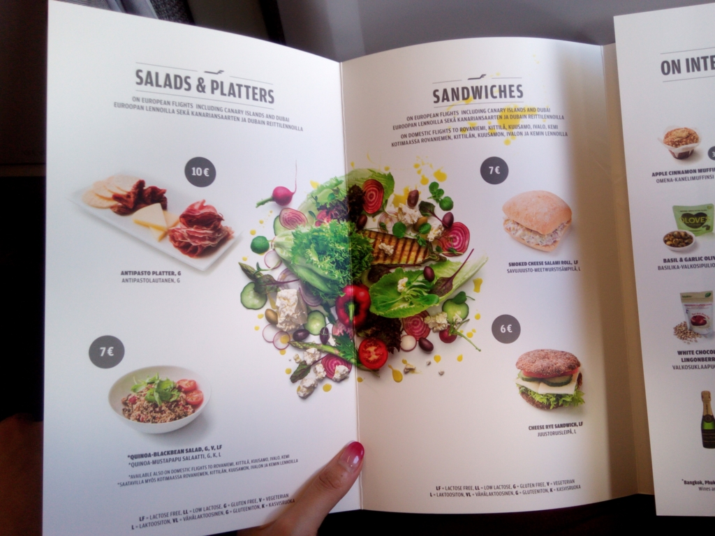 フィンエアー-機内食メニュー-サラダ